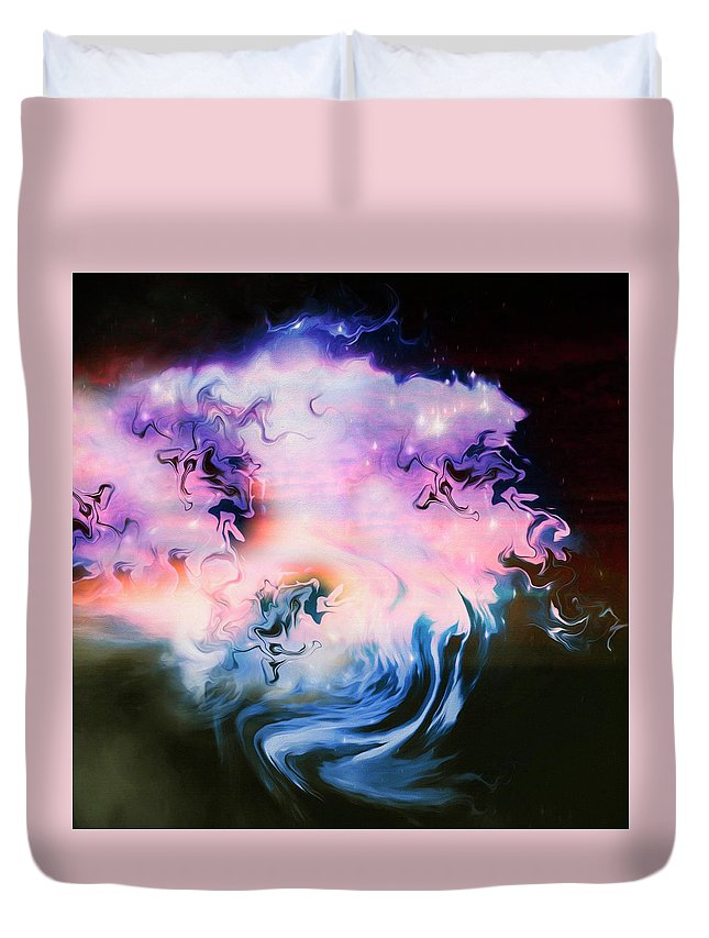 Abstract Duvet Cover featuring the digital art San Francisco Ripple #45 by Don DePaola