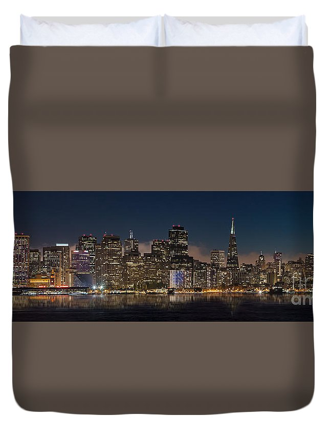 Architecture Duvet Cover featuring the photograph San Francisco Skyline by Jerry Fornarotto