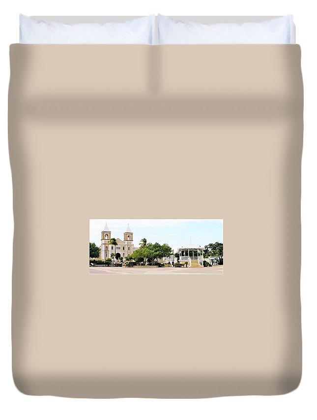 Neighborhood Duvet Cover featuring the photograph San Jose Del Cabo by Marilyn Alexander
