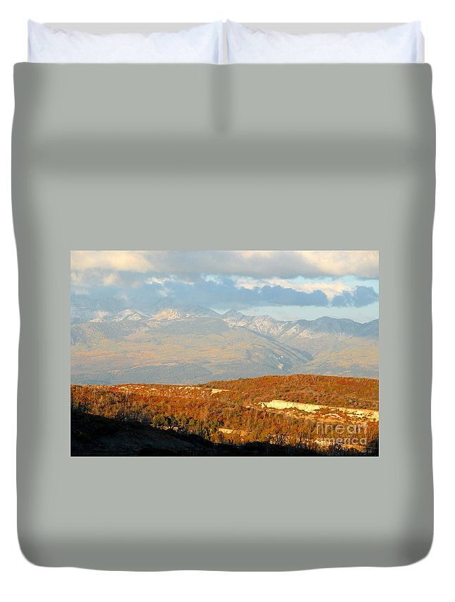 San Juan Mountains Colorado Duvet Cover featuring the photograph San Juan Mountains by David Lee Thompson
