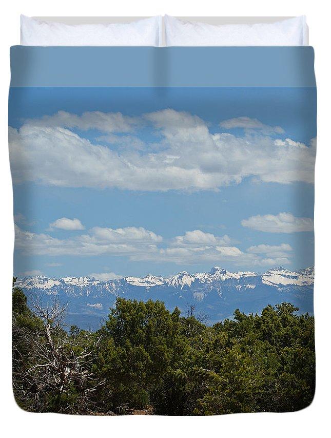 Art Duvet Cover featuring the photograph San Juan Mountains by Ernie Echols