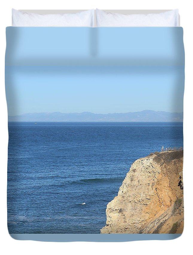 Landscape Duvet Cover featuring the photograph San Pedro by Erick Kim