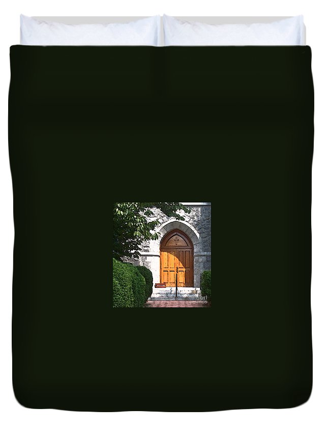 Church Duvet Cover featuring the photograph Sanctuary by Debbi Granruth