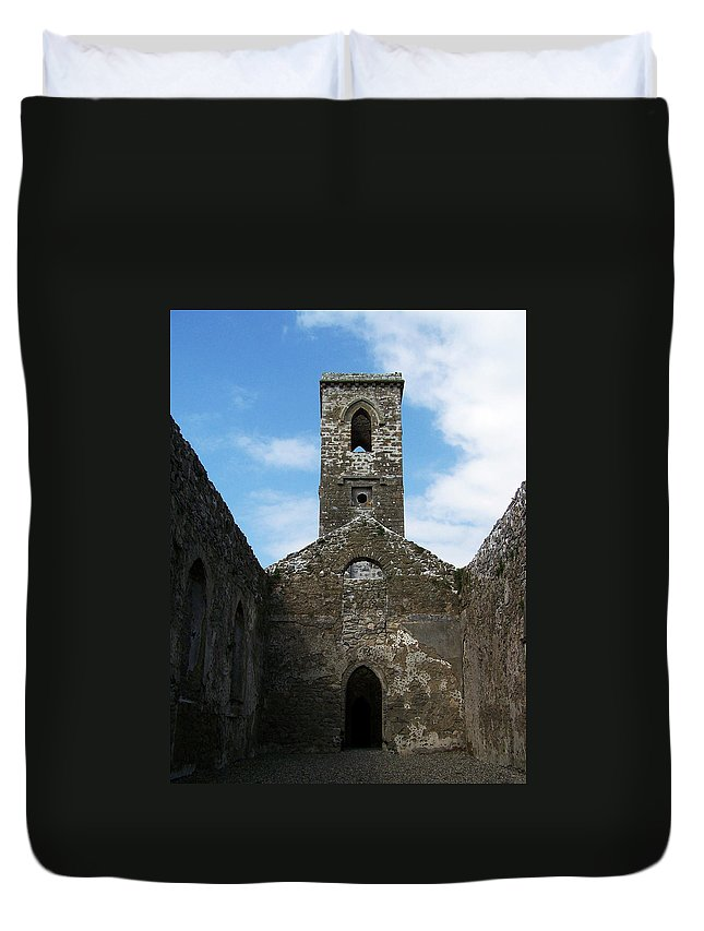 Ireland Duvet Cover featuring the photograph Sanctuary Fuerty Church Roscommon Ireland by Teresa Mucha