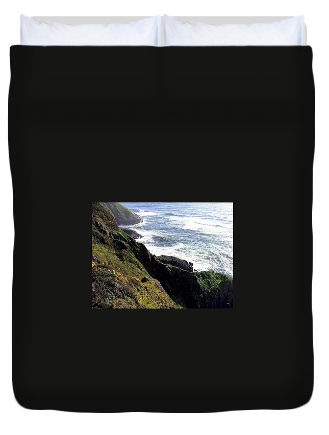 Sand And Sea Duvet Cover featuring the photograph Sand And Sea 6 by Will Borden
