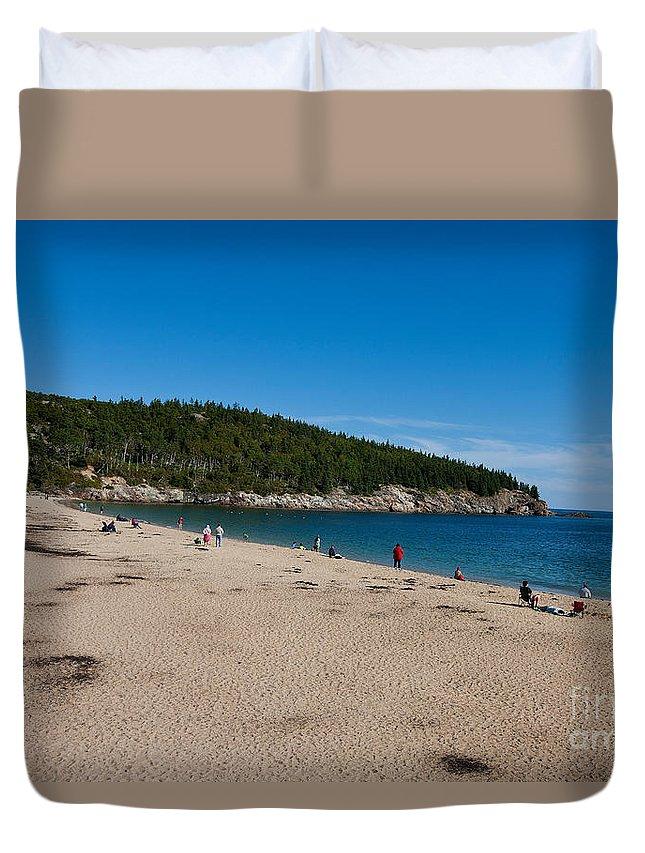 Acadia National Park Duvet Cover featuring the photograph Sand Beach Acadia National Park by Jason O Watson