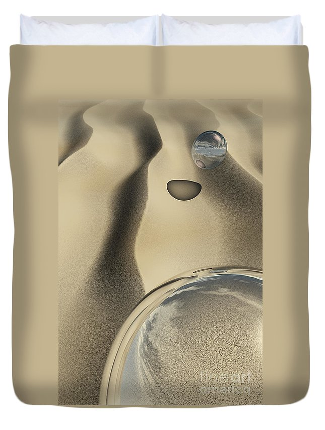 Contemporary Duvet Cover featuring the digital art Sand Bubbles by Richard Rizzo