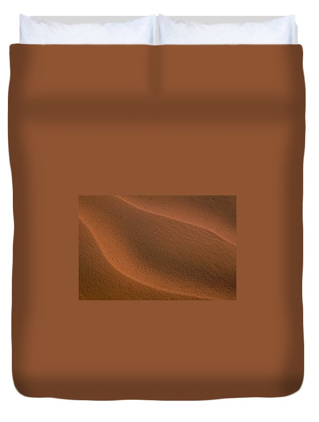 Shara Duvet Cover featuring the photograph Sand Curves by Michael Mogensen