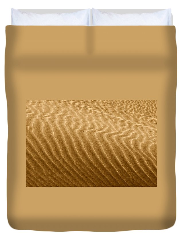 Sand Duvet Cover featuring the photograph Sand Dune Mojave Desert California by Christine Till