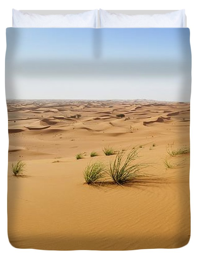 Adventure Duvet Cover featuring the photograph Sand Dunes In Sharjah Desert by Alexandre Rotenberg