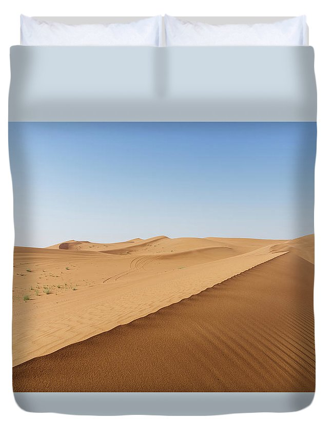 Adventure Duvet Cover featuring the photograph Sand Dunes In United Arab Emirates Desert by Alexandre Rotenberg