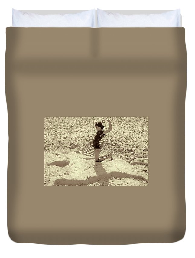 Sand Duvet Cover featuring the photograph Sand Horse by JAMART Photography