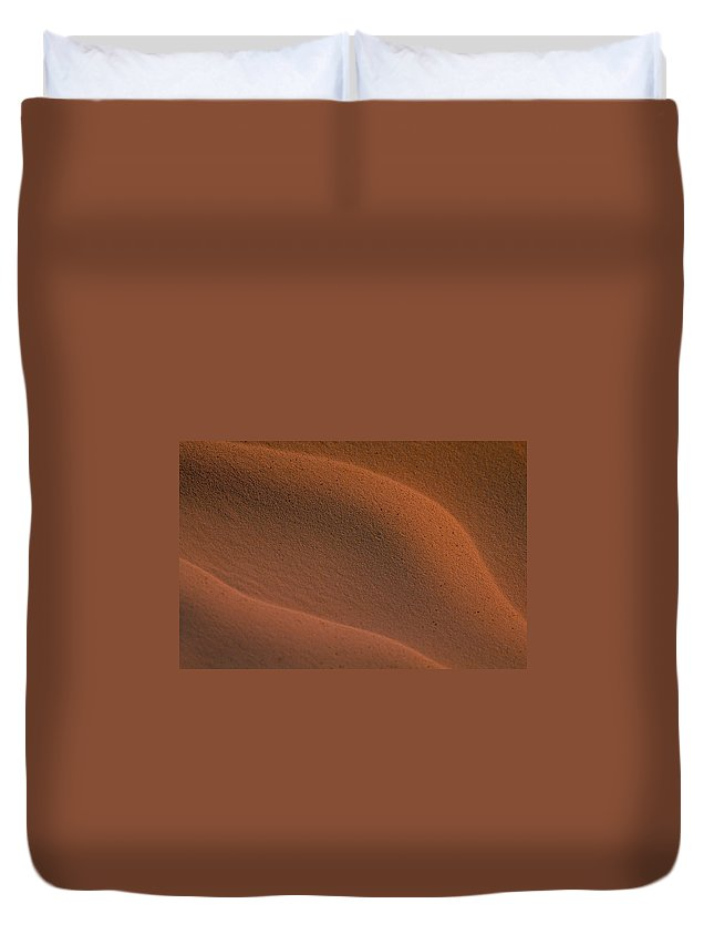 Sahara Duvet Cover featuring the photograph Sand In Sahara by Michael Mogensen