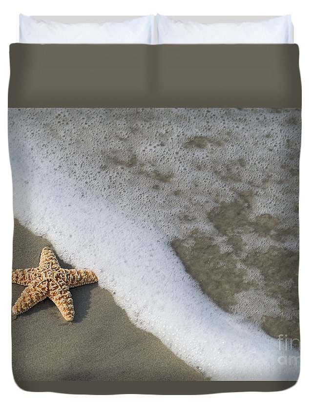 Background Duvet Cover featuring the photograph Sand Patterns by Dana Edmunds - Printscapes