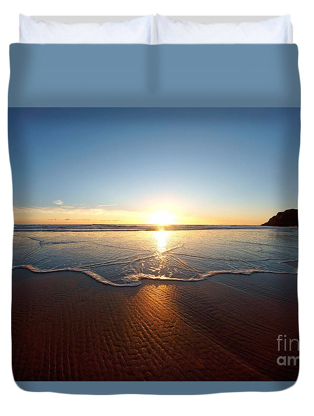 Wales Duvet Cover featuring the photograph Sand Textures by Minolta D