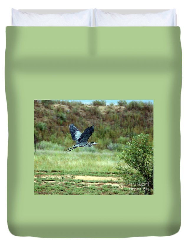 Crane Duvet Cover featuring the photograph Sandhill Crane by Robert Smitherman