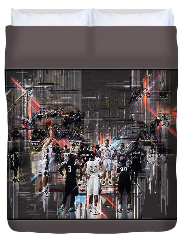 Basketball Duvet Cover featuring the photograph Free Throw by Ronnie Gilbert