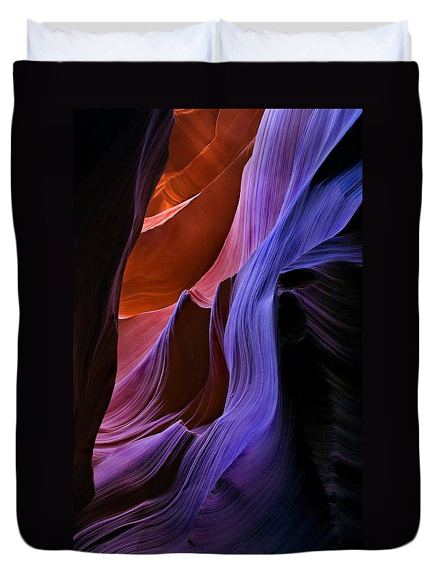 Sandstone Duvet Cover featuring the photograph Sandstone Cascade by Mike Dawson