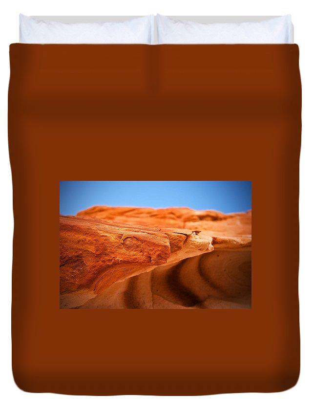 Sandstone Edge Duvet Cover featuring the photograph Sandstone Edge by Chris Brannen