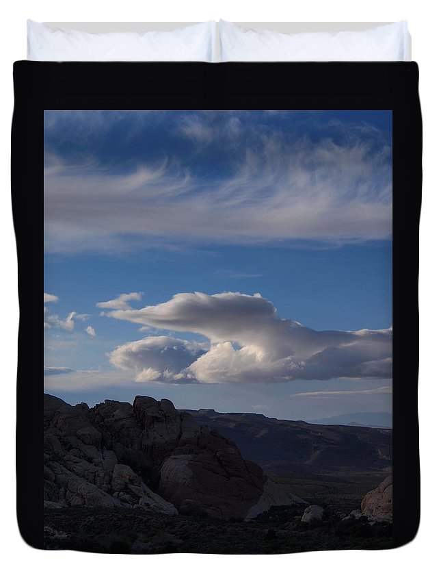 Clouds Duvet Cover featuring the photograph Sandstone Quarry I by Michael Smith