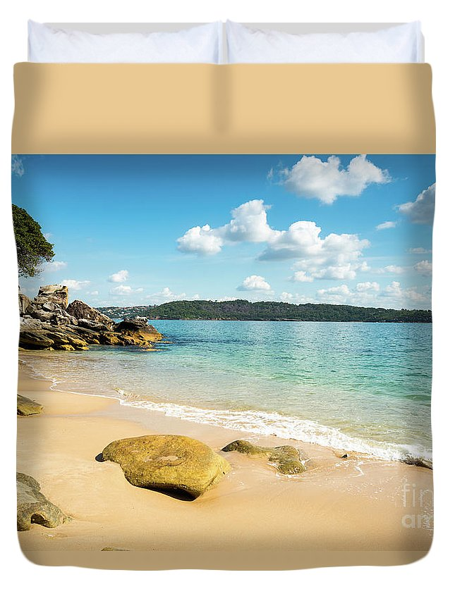 Sand Duvet Cover featuring the photograph Sandy Beach Sydney by Andrew Michael