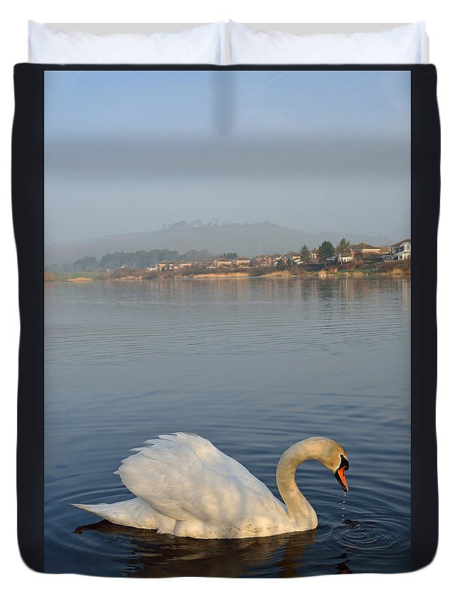 Llanelli Duvet Cover featuring the photograph Sandy Water Park 4 by Phil Fitzsimmons