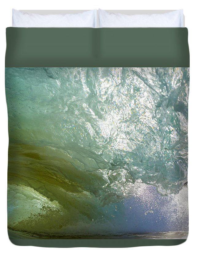 Hawaii Duvet Cover featuring the photograph Sandy's Power 5 by Chris and Wally Rivera