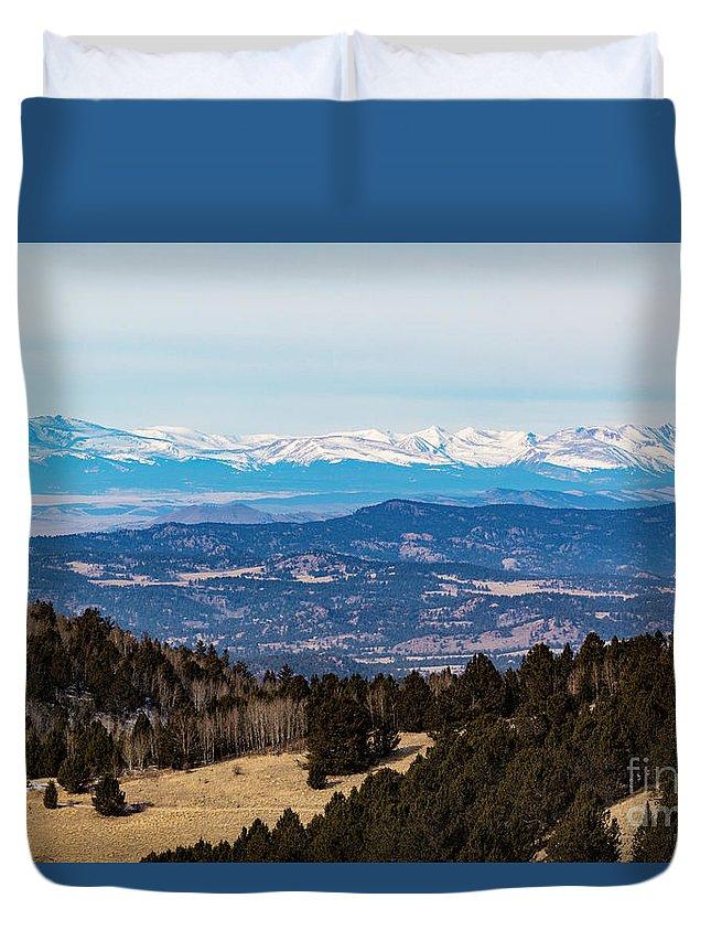 Sangre De Cristo Duvet Cover featuring the photograph Sangre De Cristo Mountain Valley by Steve Krull