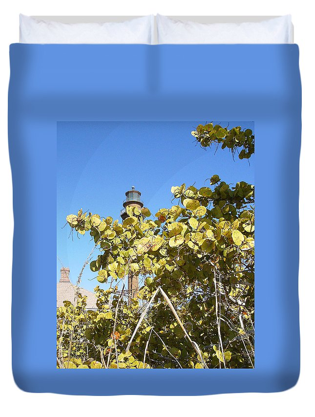 Florida Duvet Cover featuring the photograph Sanibel Lighthouse by Chris Andruskiewicz