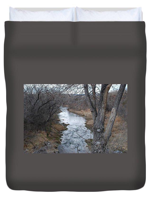 Santa Fe Duvet Cover featuring the photograph Santa Fe River by Rob Hans