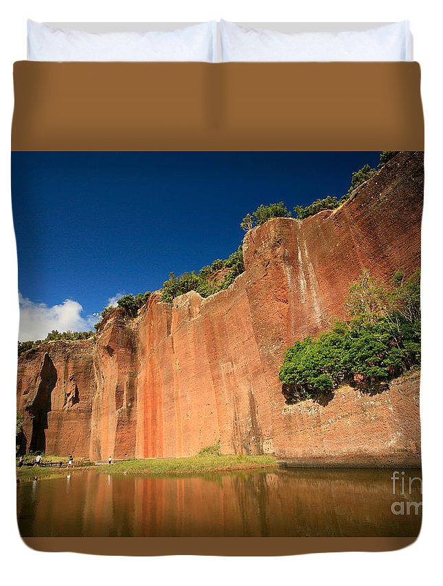 Walls Duvet Cover featuring the photograph Santa Maria Azores by Gaspar Avila