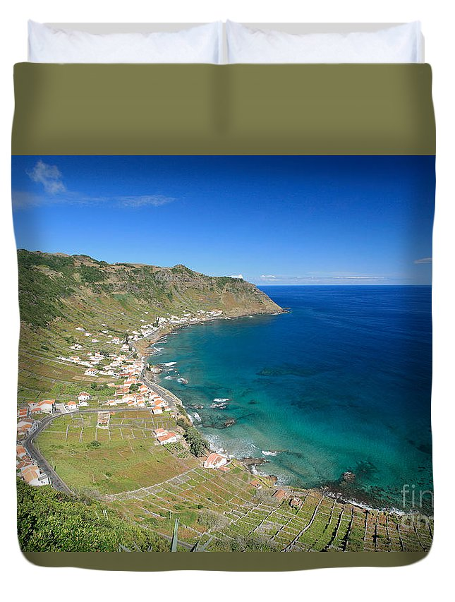 Azores Duvet Cover featuring the photograph Santa Maria Azores II by Gaspar Avila