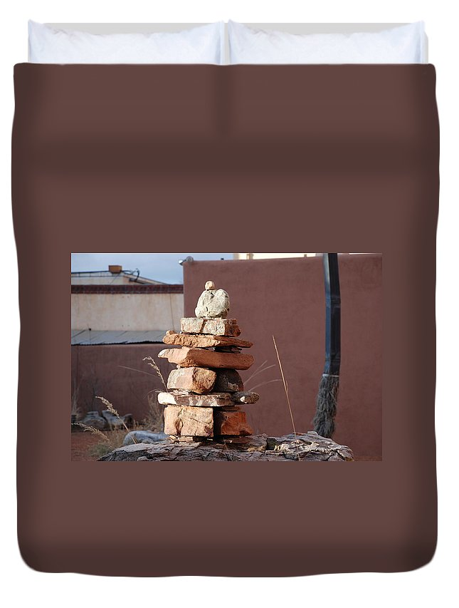 Pop Art Duvet Cover featuring the photograph Sante Fe Rocks by Rob Hans