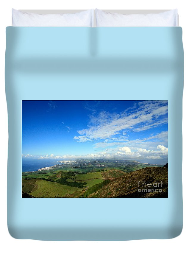 Azores Duvet Cover featuring the photograph Sao Miguel Island by Gaspar Avila