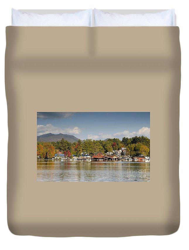Saranac Lake New York Duvet Cover featuring the photograph Saranac Lake by David Lee Thompson