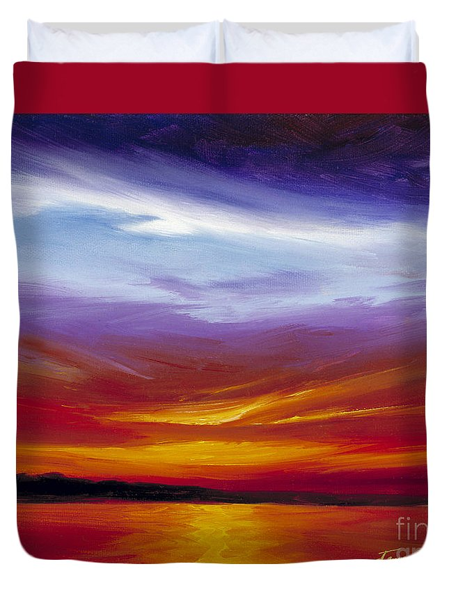 Skyscape Duvet Cover featuring the painting Sarasota Bay I by James Christopher Hill
