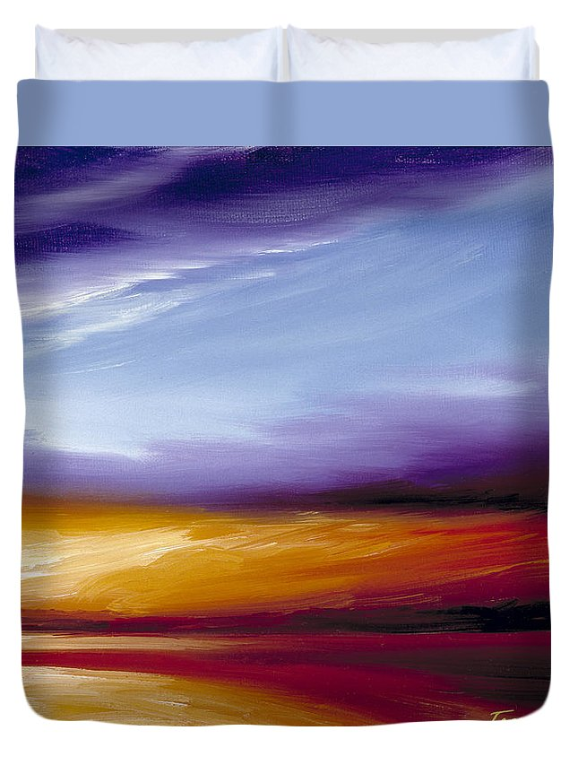 Skyscape Duvet Cover featuring the painting Sarasota Bay II by James Christopher Hill