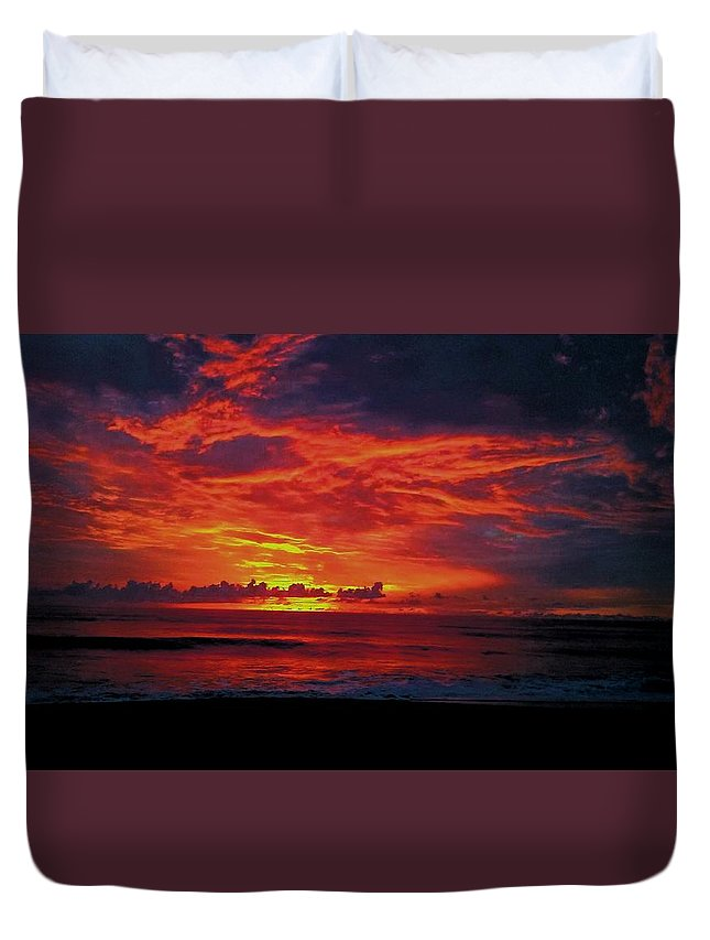 Beach Duvet Cover featuring the photograph Satellite Beach Sunrise by Patrick Dier