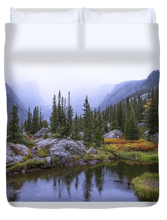 Saturated Forest Duvet Cover featuring the photograph Saturated Forest by Chad Dutson