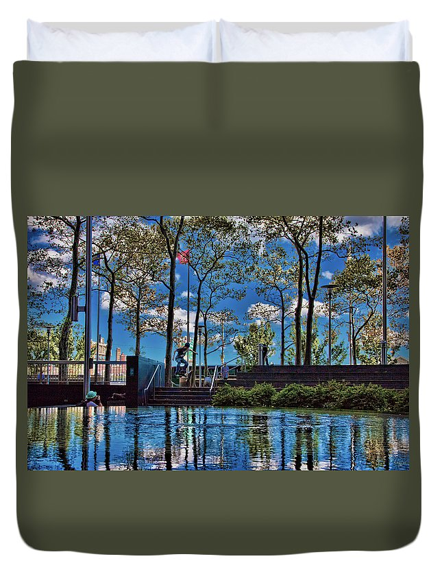 Skateboarder Duvet Cover featuring the photograph Saturday Afternoon by Chris Lord