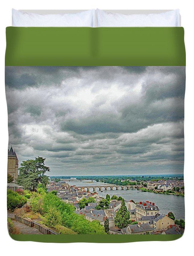 Saumur Duvet Cover featuring the photograph Saumur, Chateau, Loire, France by Curt Rush