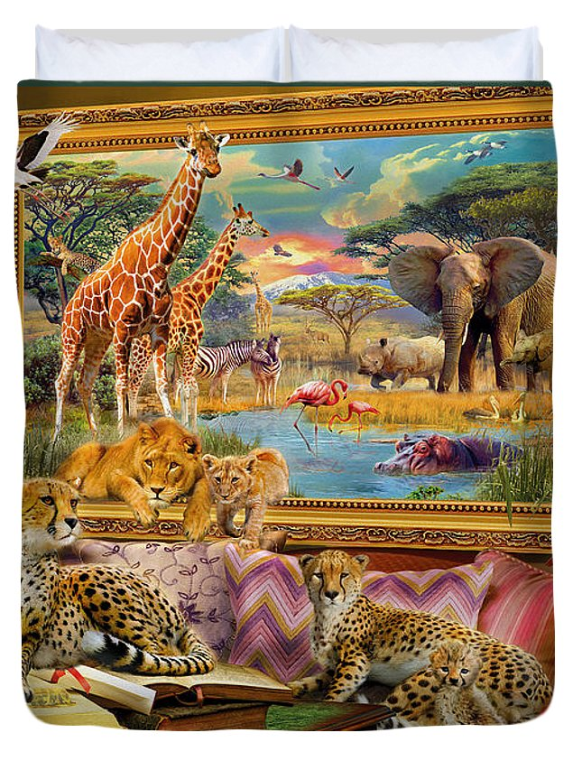 Africa Duvet Cover featuring the digital art Savannah Coming To Life by Jan Patrik Krasny