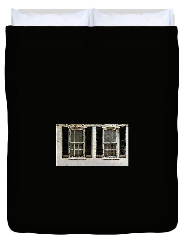 Window Duvet Cover featuring the photograph Savannah Shutter by JAMART Photography