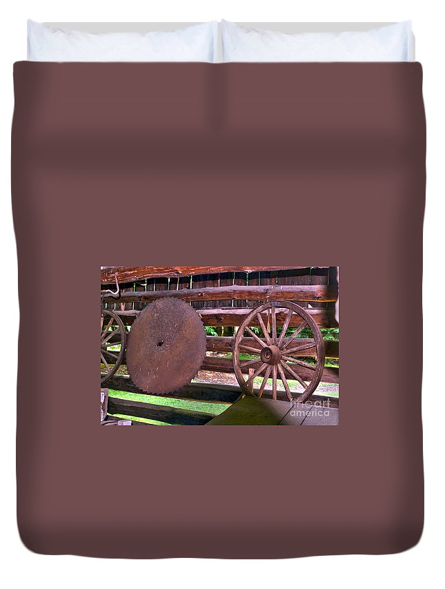 Saw Mill Duvet Cover featuring the photograph Sawyer by Alan Look