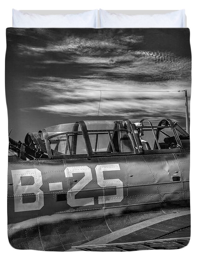 Ww Ii Duvet Cover featuring the photograph Sbd On Patrol by Thomas C Brown