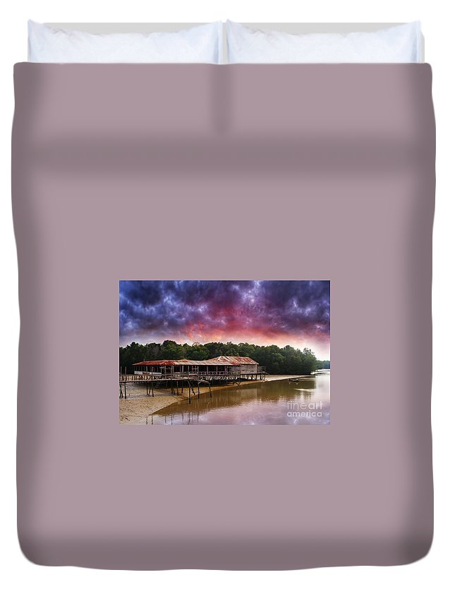 Scenic Duvet Cover featuring the photograph Sc101 by Charuhas Images