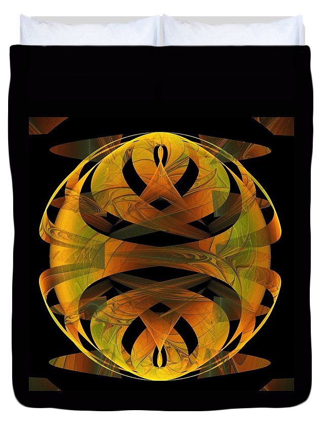 Digital Art Duvet Cover featuring the digital art Scarab by Amanda Moore
