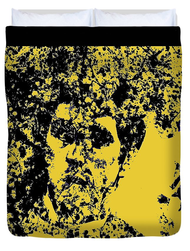 Scarface Duvet Cover featuring the mixed media Scarface 2e by Brian Reaves