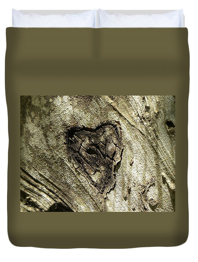 Tree Duvet Cover featuring the photograph Love Endures by Shannon Turek