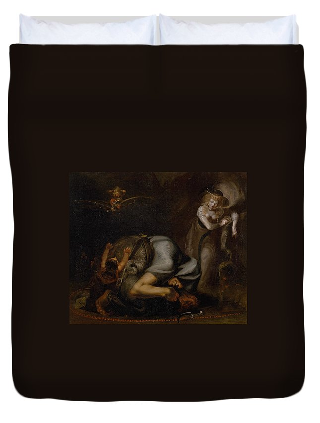 Fuseli Duvet Cover featuring the painting Scene Of Witches by Henry Fuseli